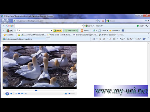 Embed a video into HTML page