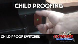 Child proof appliance switches