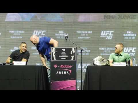 Full UFC 202 press conference with Conor McGregor and Nate Diaz