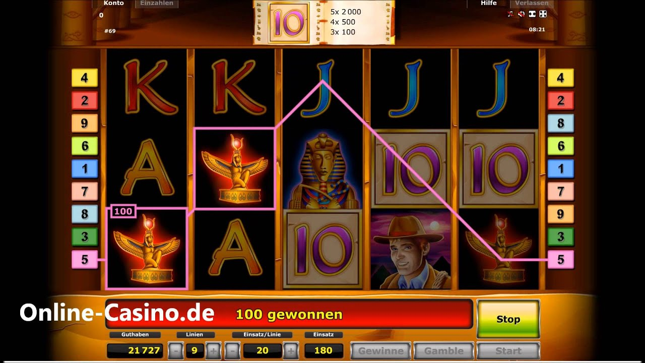 online casino games reviews book auf ra
