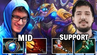 how MIRACLE & W33 deal with Counterpick — MID & SUPPORT Tinker Dota2