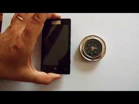 Cell phone make compass go crazy