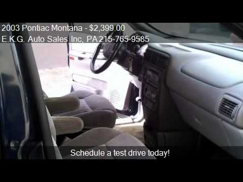2003 Pontiac Montana 1SE Extended - for sale in Philadelphia