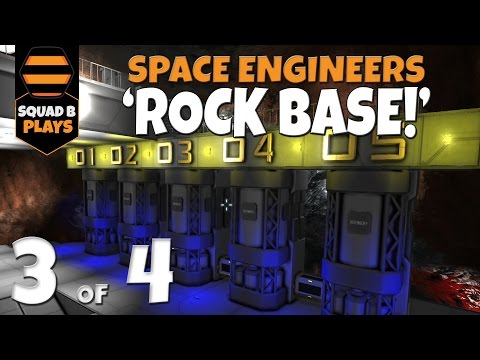 Space Engineers - ROCK BASE - Pt.3 - Internals, Lights, Power