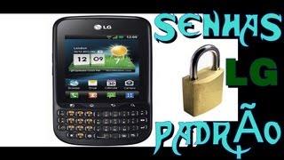 Senhas padrão de ( FABRICA ) de celulares ''LG'' com teclados