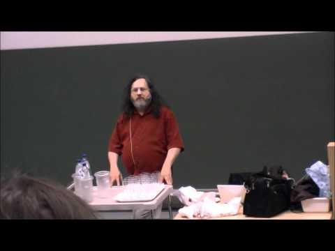 Richard Stallman speech Copyright vs Community at TU Delft.