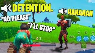 I Pretended I'm at SCHOOL and Got in TROUBLE - Fortnite