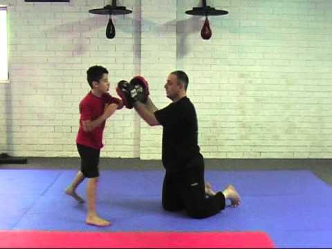 Jun Fan KickBoxing To Trapping Using Ear Slap -  Lil Dragons Class Image 1