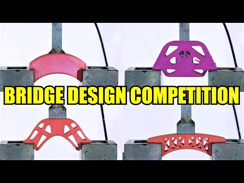 Which is the Strongest Bridge? Hydraulic Press Test!