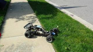 1/5 scale RC Buggy ripping it up!