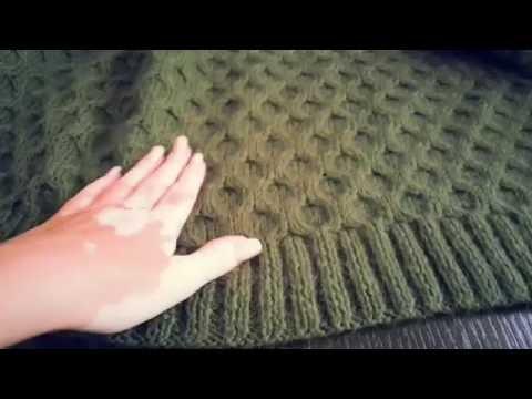 Узор объемного вязания спицами
