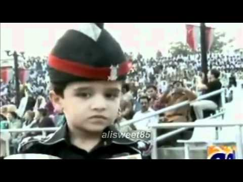 Pakistani Soldier Child Army Parade On Wagah Border video