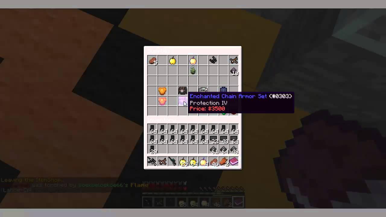 Minecraft 1 7 2 GunZ Server (Cracked) YouTube