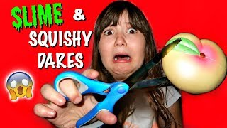 I CUT MY IBLOOM PEACH! | EXTREME SQUISHY DARES AND SLIME DARES