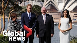 Prince Harry and Meghan Markle receive official welcome in Australia