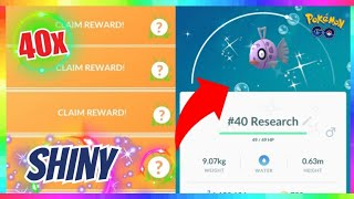SHINY FEEBAS CAUGHT AFTER 40x RESEARCH TASKS during FEEBAS DAY EVENT in Pokemon Go!