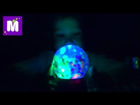Орбиз светильник с шариками игровой набор распаковка Orbeez Magic Light-Up Globe toy unboxing