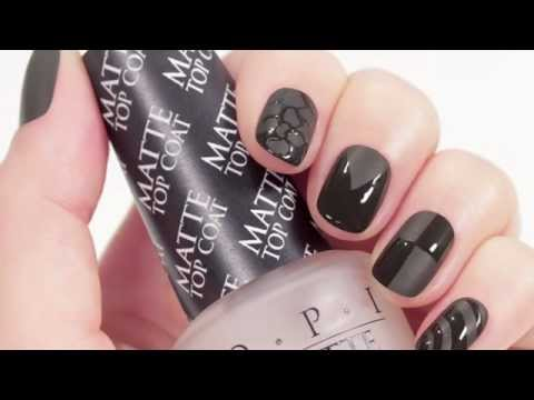 OPI Matte Top Coat: How-To Create A Matte French Mani