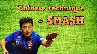 Forehand Smash Table Tennis Technique