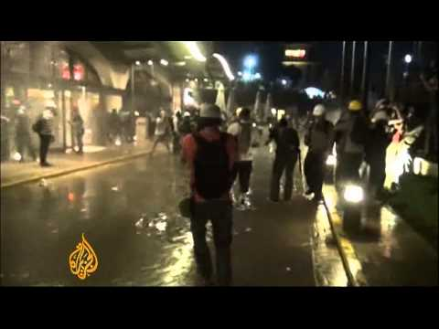 Turkish police storm protest camp
