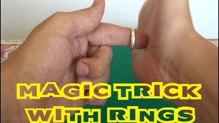Truco de magia revelado - Magia con anillos pt.1 [MAGIC TRICK REVEALED]