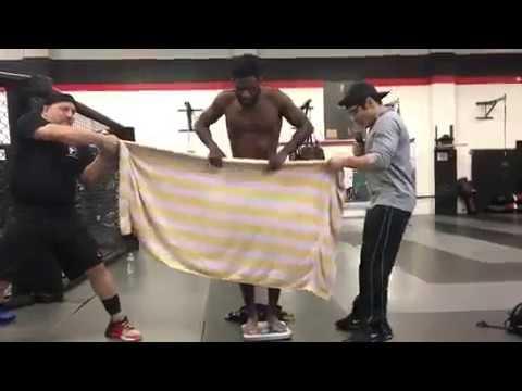 Aljamain Sterling Makes Fun of Daniel Cormier Towel Weigh-In
