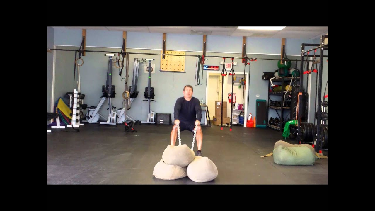 Home made fitness equipment indoor sled dragging ideas