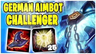 GERMAN AIMBOT Challenger Zerstörung! Noway4u Twitch Highlights - League Of Legends