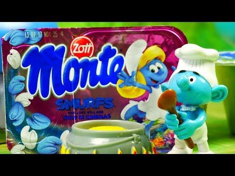 Smakołyki dla Papy Smerfa | Smerfy | Stikeez & Haribo & Monte & Lubella | bajki dla dzieci
