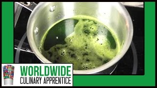 How to make Chlorophyll - How extract Chlorophyll - Comment faire une chlorophylle - Food Coloring