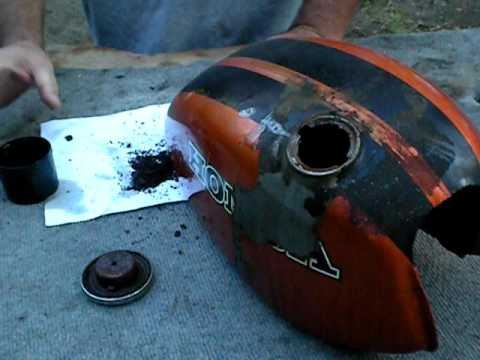 Part 1:Motorcycle Rust Removal and Resoration using a Kreem Kit Part 1