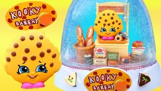 KOOKY COOKIE BAKERY SHOPKINS GLITTER GLOBE Pastries Sylvanian Families Brick Oven Make Your Own