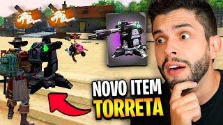USEI A NOVA TORRETA AUTOMÁTICA DO SERVIDOR AVANÇADO DO FREE FIRE!!!