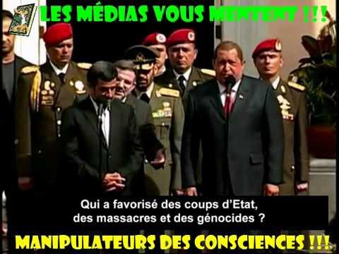 L'AFP en Flagrant Délit de Manipulation sur Chavez et Ahmadinejad ! Voici leurs deux discours :