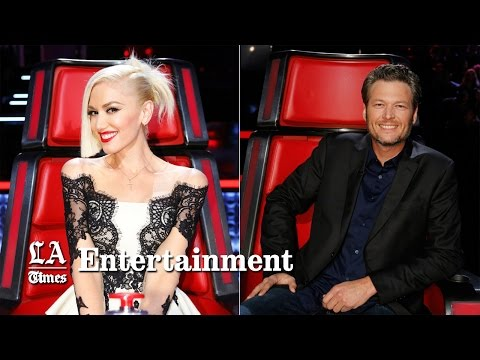 Watch Gwen Stefani & Blake Shelton flirt on 'The Voice' as Adam Levine and Pharrell react