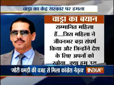 Robert Vadra Slams Giriraj Singh for Racist Comments at Sonia Gandhi - India TV