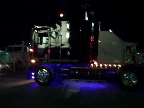 Kenworth K100E Transformers Decepticon MotorMaster night run