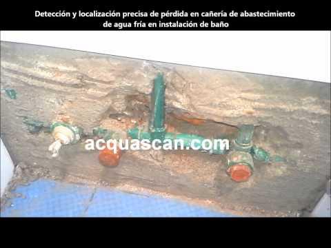 Acquascan Uruguay / Detección y Localización Exacta de Pérdida de Agua Fría en Cañería de Baño