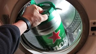 Experiment - Beer Keg - in a Washing Machine - Еndurance Test