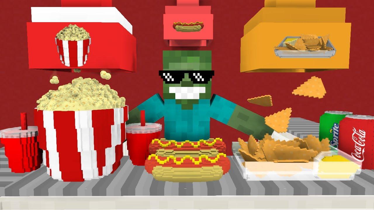 Monster School: WORK AT CINEMA PLACE! - Minecraft Animation