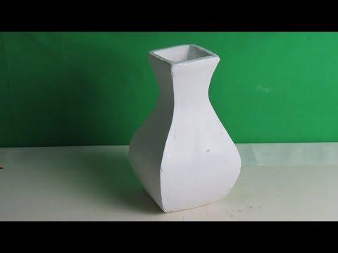 Dekoration  für die Wohnung .  Vase selber basteln .