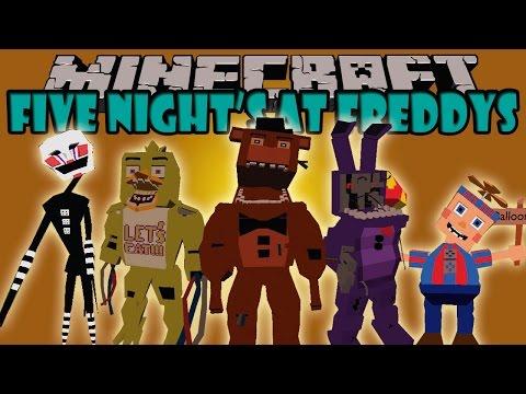 FIVE NIGHTS AT FREDDYS MOD Terror Super Realista Minecraft mod 1.7.10