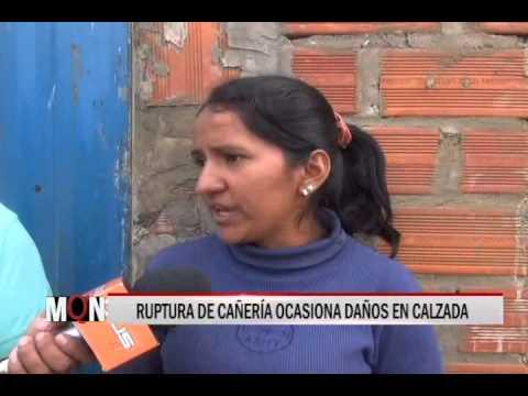 04/03/15 14:24 RUPTURA DE CAÑERÍA OCASIONA DAÑOS EN CALZADA