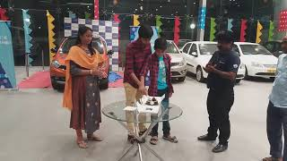 Cake Cutting celebration of Tata Tiago NRG...