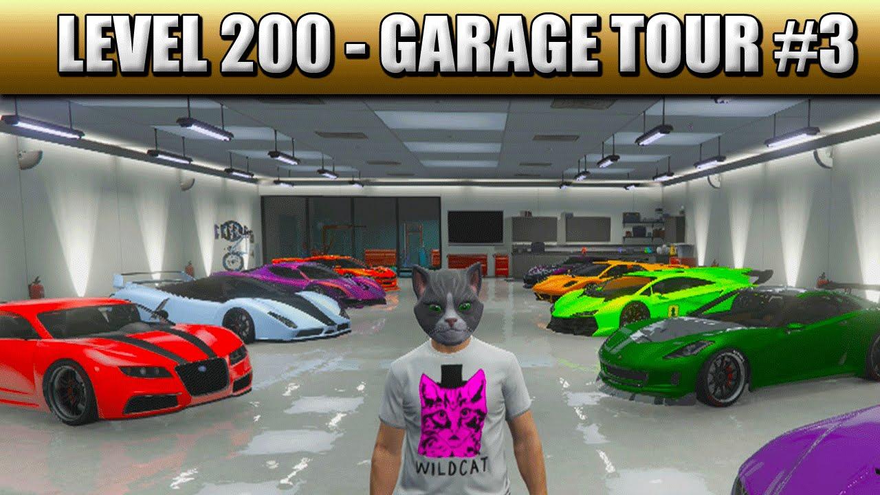 gta 5 online level 200 garage tour 3 ps4 1080p gta