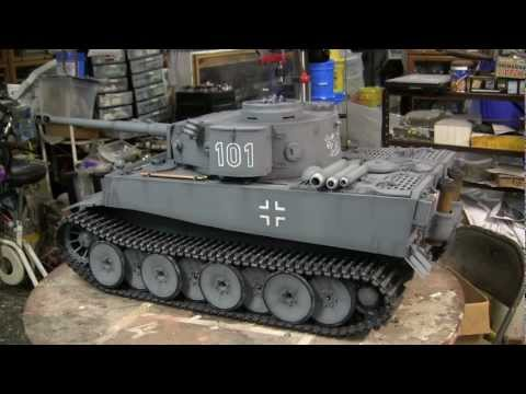 1/6th scale scratch built German Tiger I tank project video #11 (Model Complete) HD video