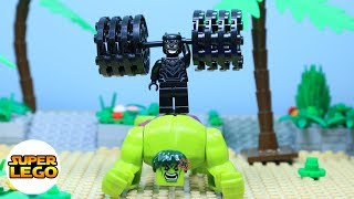 Super Lego Hulk Gym Fail: Black Panther Gym At The Beach