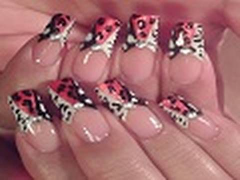ANIMAL PRINT NAIL ART DESIGN TUTORIAL - YouTube