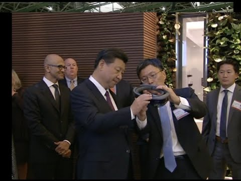 Chinese President Visits Microsoft Headquarters, Calls for Cooperation in Technical Innovation