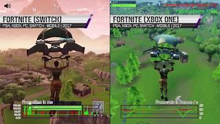 Fortnite Nintendo Switch vs Fortnite Xbox One Frame Rate Test  | 4K60 FPS 2160P